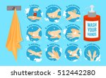 washing medical instructions... | Shutterstock .eps vector #512442280