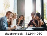 group of students doing school... | Shutterstock . vector #512444080