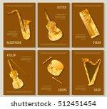 music magazine layout flyer...   Shutterstock .eps vector #512451454