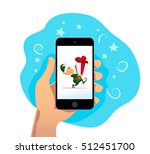 vector flat christmas santa...   Shutterstock .eps vector #512451700