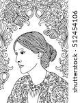 hand drawn ink portrait of... | Shutterstock .eps vector #512454106