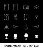kitchen set. kitchen items. ... | Shutterstock .eps vector #512454160