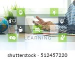 businessman working in office... | Shutterstock . vector #512457220