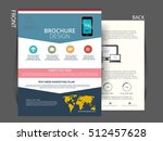 flyer brochure design  business ... | Shutterstock .eps vector #512457628