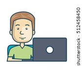 avatar of a person working on... | Shutterstock .eps vector #512458450