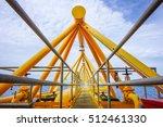 flare bridge from gas... | Shutterstock . vector #512461330