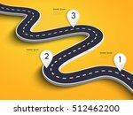 winding road on a colorful... | Shutterstock .eps vector #512462200