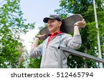 young man with the skateboard... | Shutterstock . vector #512465794