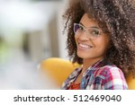 attractive mixed race woman...   Shutterstock . vector #512469040