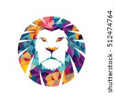lion head vector logo template... | Shutterstock .eps vector #512474764