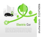 electric car silhouette car and ...   Shutterstock .eps vector #512476006