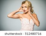 high fashion. shapely blonde in ... | Shutterstock . vector #512480716
