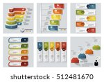 collection of 6 design colorful ... | Shutterstock .eps vector #512481670