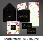 tony wedding invitation suite... | Shutterstock .eps vector #512482690