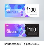 corporate gift voucher template.... | Shutterstock .eps vector #512508313