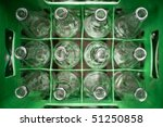 box of empty bottles - stock photo