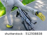 young man with the bicycle in...   Shutterstock . vector #512508838