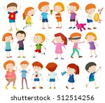 boys and girls doing different... | Shutterstock .eps vector #512514256