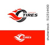 tires logo design template ... | Shutterstock .eps vector #512514430