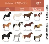 horse breeding icon set. farm... | Shutterstock .eps vector #512518858