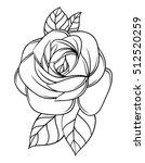 flowers roses  black and white. ...   Shutterstock .eps vector #512520259