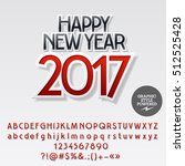 vector modern sticker happy new ... | Shutterstock .eps vector #512525428