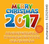 vector colorful sticker merry... | Shutterstock .eps vector #512525440
