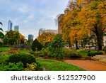 autumn in grant park  chicago ... | Shutterstock . vector #512527900
