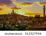 Scenery Of Siena At Sunset  A...