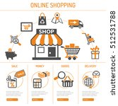 online internet shopping... | Shutterstock .eps vector #512531788