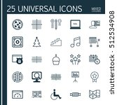 set of 25 universal editable... | Shutterstock .eps vector #512534908