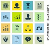 set of management icons on... | Shutterstock .eps vector #512538046
