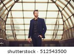 handsome fashion model in a... | Shutterstock . vector #512543500