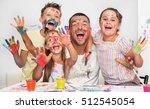 portrait of a cute happy father ... | Shutterstock . vector #512545054