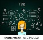 nurse vector character. board... | Shutterstock .eps vector #512549260