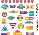 black friday sale badges and... | Shutterstock .eps vector #512549800
