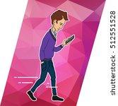 man using mobile phone | Shutterstock .eps vector #512551528
