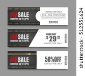 black friday sale banners.... | Shutterstock .eps vector #512551624