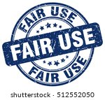 fair use stamp.  blue round... | Shutterstock .eps vector #512552050