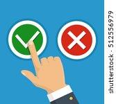 hand  finger pressing buttons... | Shutterstock .eps vector #512556979