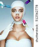 pretty woman in medical... | Shutterstock . vector #512562778