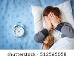 six years old child sleeping in ... | Shutterstock . vector #512565058