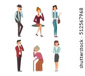 people talking phone character... | Shutterstock .eps vector #512567968