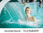 woman enjoying hydrotherapy and ... | Shutterstock . vector #512568409
