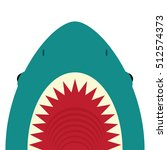 shark with open mouth and sharp ... | Shutterstock .eps vector #512574373