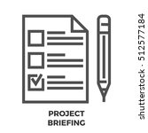 project briefing thin line ... | Shutterstock . vector #512577184