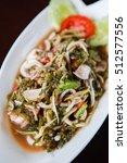 sea grapes green caviar and... | Shutterstock . vector #512577556