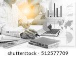 double exposure of businessman... | Shutterstock . vector #512577709