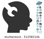 brain wrench tool icon with... | Shutterstock .eps vector #512582146