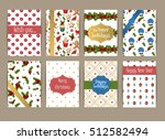 merry christmas greeting card... | Shutterstock .eps vector #512582494